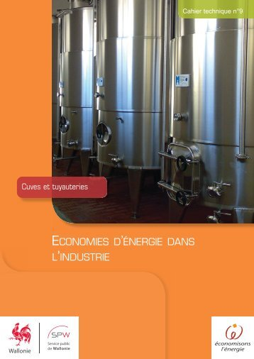 Cuves et tuyauteries - Energie Wallonie