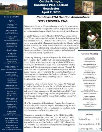 April 2013 - PGA Carolinas