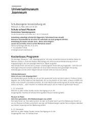 Programm Schule schaut Museum, 2013.pdf - Universalmuseum ...