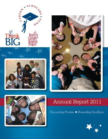 CSF Annual Report 2011 - Carson Scholars Fund