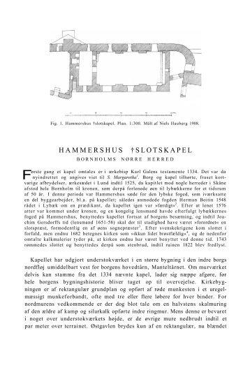 HAMMERSHUS †SLOTSKAPEL - Nationalmuseet