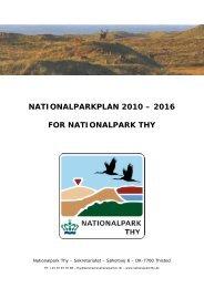 nationalparkplan 2010 – 2016 for nationalpark thy - Danmarks ...
