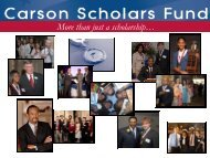 More than just a scholarship… - Carson Scholars Fund