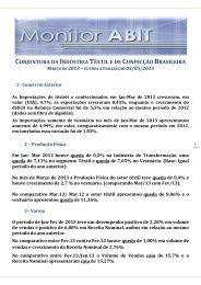 conjuntura da indústria têxtil e de confecção brasileira março ... - Abit