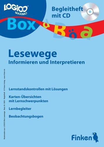 Logico-Box Lesewege