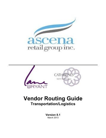 Vendor Routing Guide - CSI Vendor Manual