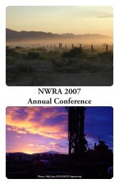 NWRA 2007 Annual Conference - Carson Water Subconservancy ...