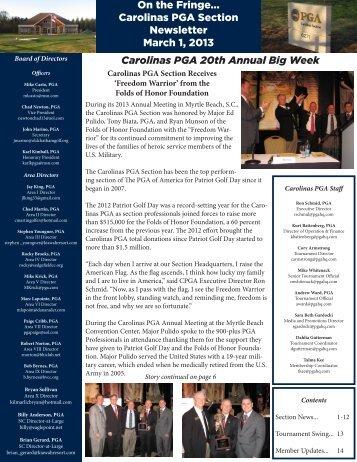 March 2013 - PGA Carolinas