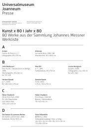 Kunst x 80 I Jahr x 80 80 Werke aus der Sammlung Johannes ...