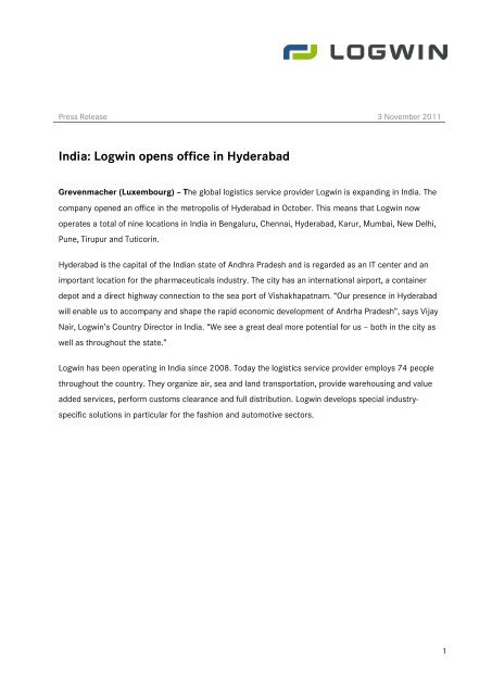 Logistics Company In Tirupur