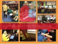 Carson Reading Room Report (Cover & Executive Summary)