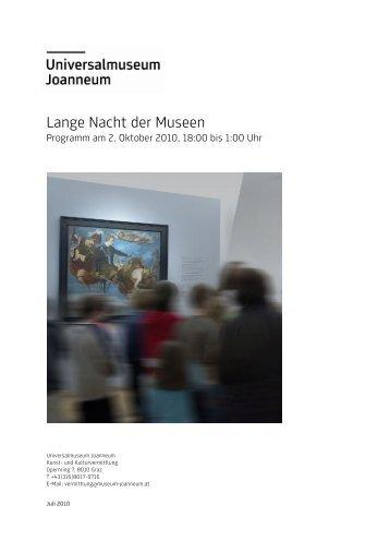 Lange Nacht der Museen 2010 - Universalmuseum Joanneum