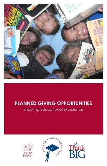Planned Giving Guide - Carson Scholars Fund