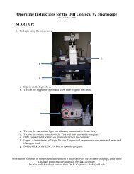 Operating Instructions for the DBI Confocal #2 Microscope