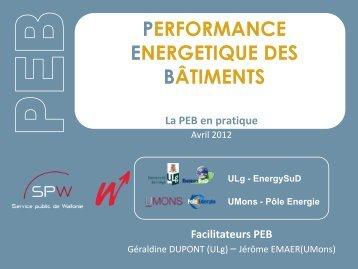 Facilitateurs PEB - Energie Wallonie