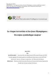 Le risque terroriste et les Jeux Olympiques : Un enjeu ... - R2IE