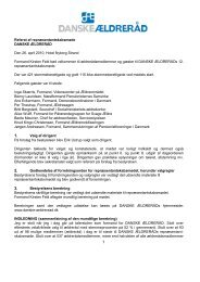 Referat af repræsentantskabsmøde DANSKE ÆLDRERÅD Den 26 ...