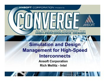 Simulation and Design Management for High-Speed Interconnect