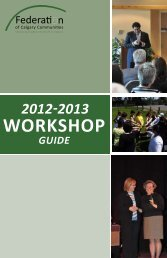 WORKSHOP - The Federation of Calgary Communities