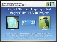 (HISUI) Project - HyspIRI Mission Study Website - NASA