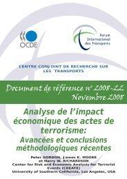 Analyse de l'impact économique des actes de terrorisme ...