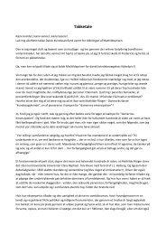 Takketale - Dansk Kvindesamfund