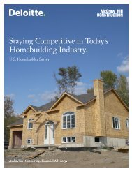 Staying Competitive in Today's Homebuilding Industry.