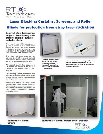 Laser Blocking Curtains, Screens, and Roller Blinds for protection ...
