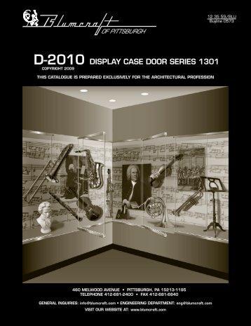display case door series 1301 d-2010