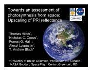 Upscaling of PRI reflectance - NASA