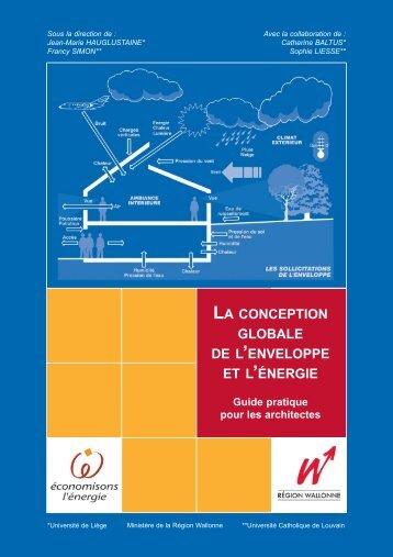 LA CONCEPTION GLOBALE DE L'ENVELOPPE ... - Energie Wallonie