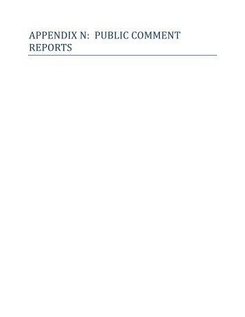 public comment reports - Gullah Geechee Corridor