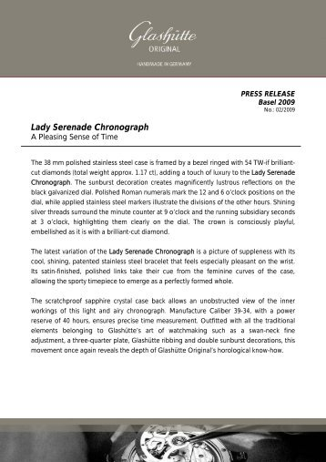 Lady Serenade Chronograph - Watchuseek, World's Most Visited ...