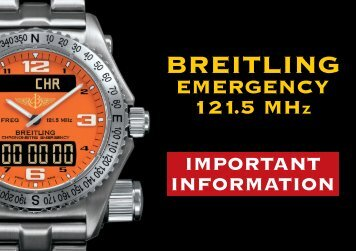 Breitling Emergency: Important information concerning the 121.5 ...