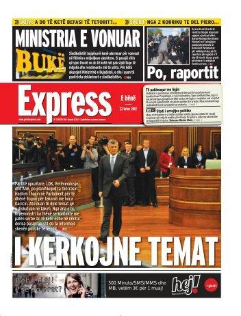 MINISTRIA E VONUAR - Gazeta Express