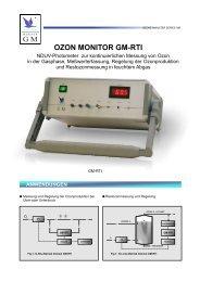 OZON MONITOR GM-RTI ANWENDUNGEN - Anseros