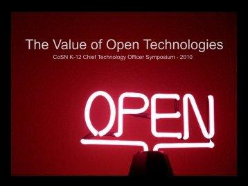 The Value of Open Technologies - SUSD Teacher Community