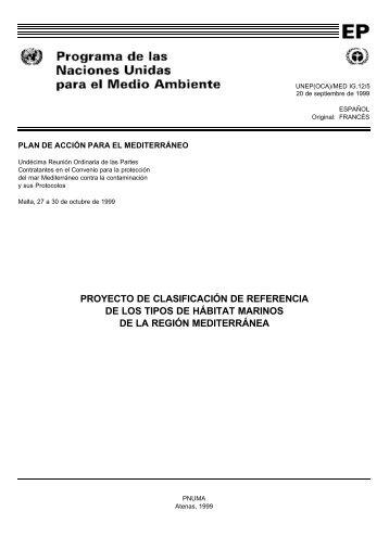 PROYECTO DE CLASIFICACIÓN DE REFERENCIA DE LOS TIPOS ...