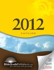 Author Index - Bible Truth Publishers