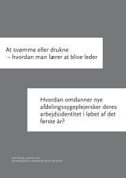 At svømme eller drukne - Dansk Sygeplejeråd