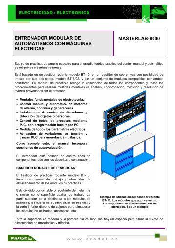 entrenador modular de automatismos con máquinas eléctricas ...