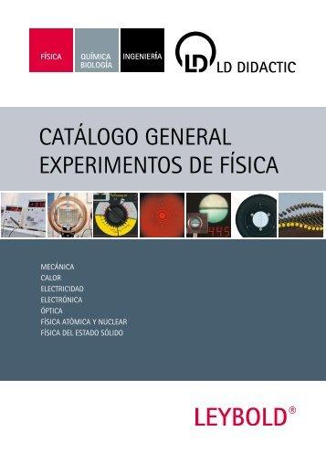 Catálogo general eXperimentos de FísiCa