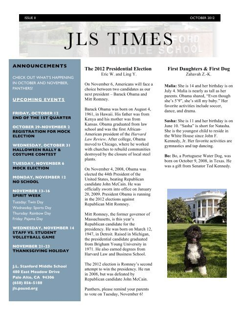 JLS Time Issue 2: October 2012 (pd