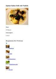 Spinat-Sahne-Soße mit Nudeln :: isst gut