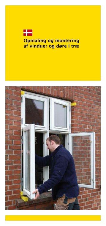 Opmåling og montering af vinduer og døre i træ - GF-Rugbakken