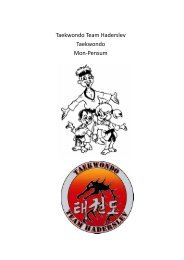 Taekwondo Team Haderslev Taekwondo Mon-Pensum