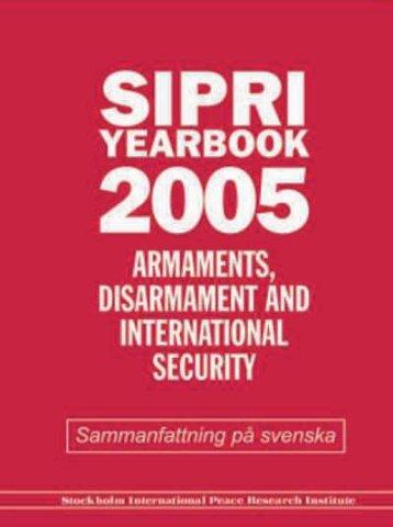 SIPRI Yearbook 2005, Sammanfattning på svenska