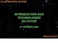 INTRODUCTION AUX TECHNOLOGIES DU FUTUR