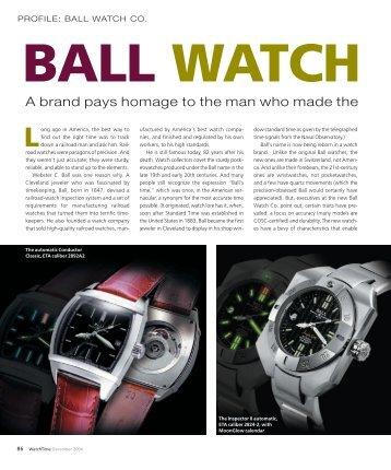 WT_2004_06: PROFILE: BALL WATCH CO. - Watchuseek, World's Most ...
