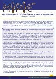 kortlægning af strategier for inkluderende undervisning - European ...
